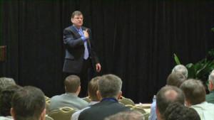 Sales Training Program Speaker giving a keynote speech on Sales Training